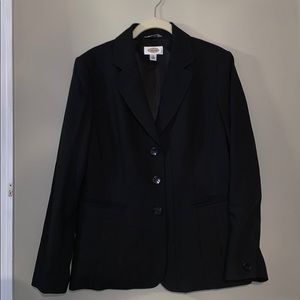 Talbots Black Blazer Button Suit Jacket